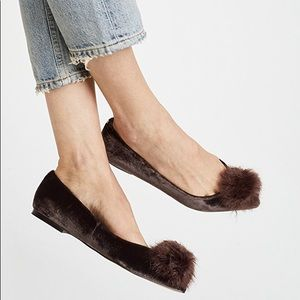 Sam Edelman Raddie Pom Faux Fur Flats